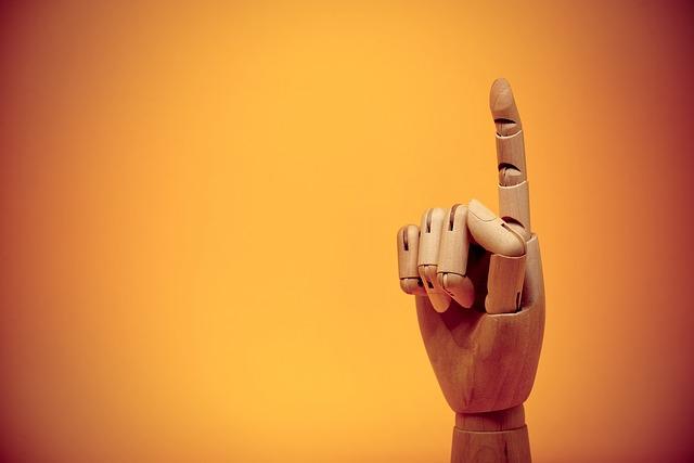 人差し指のオブジェ